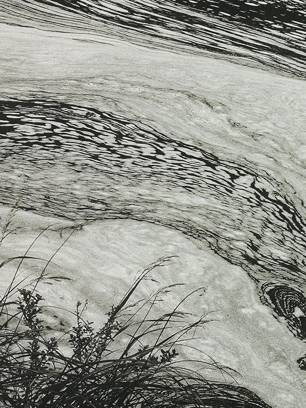 Scroll on paper depicting a river landscape