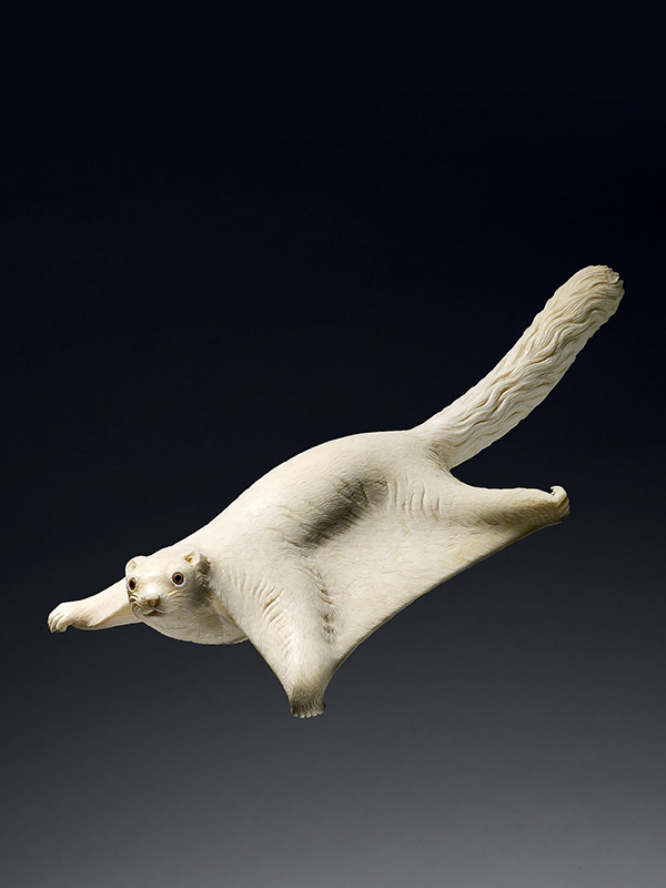 Ivory okimono of flying Squirrel