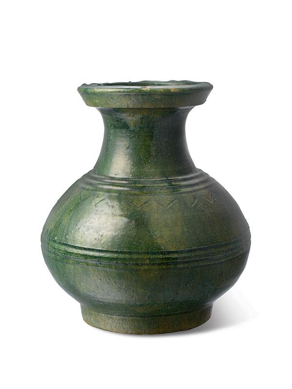 Pottery vase of hu shape