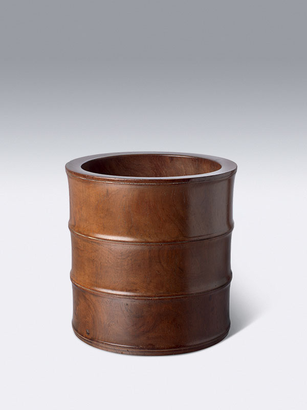 Huanghuali brushpot in the form of bamboo