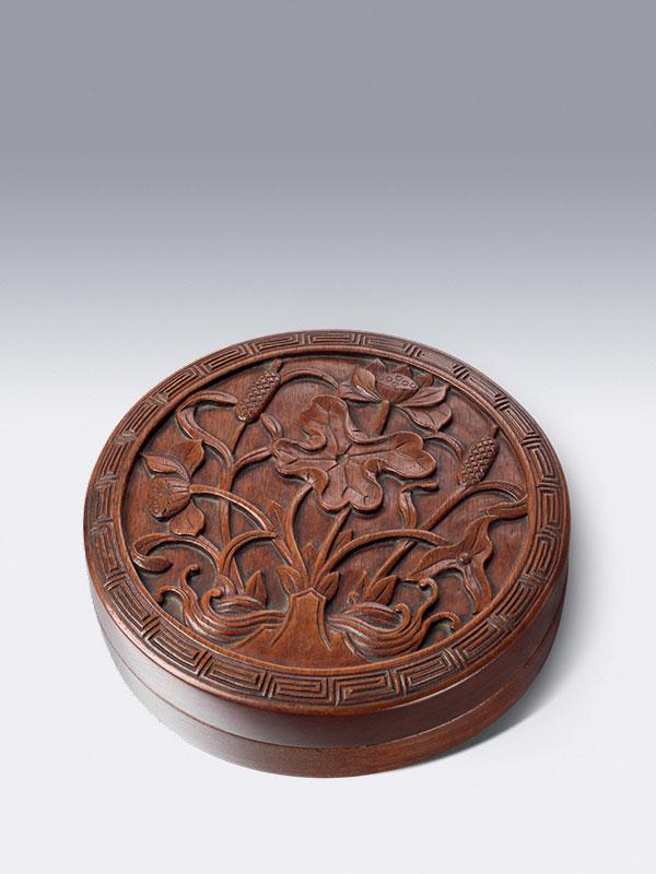 Circular huanghuali box
