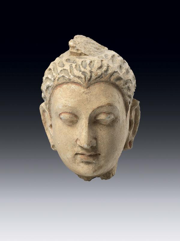 Stucco head of the Buddha