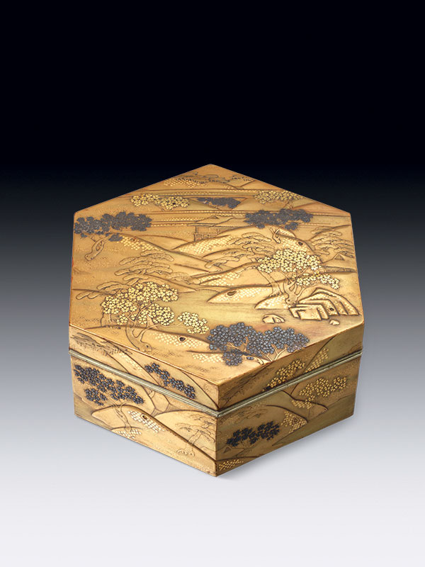 Lacquer box and cover