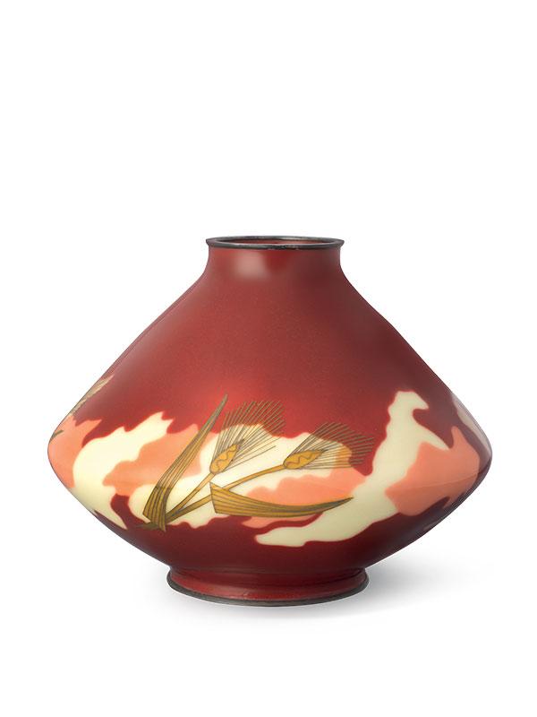 Cloisonné enamel vase