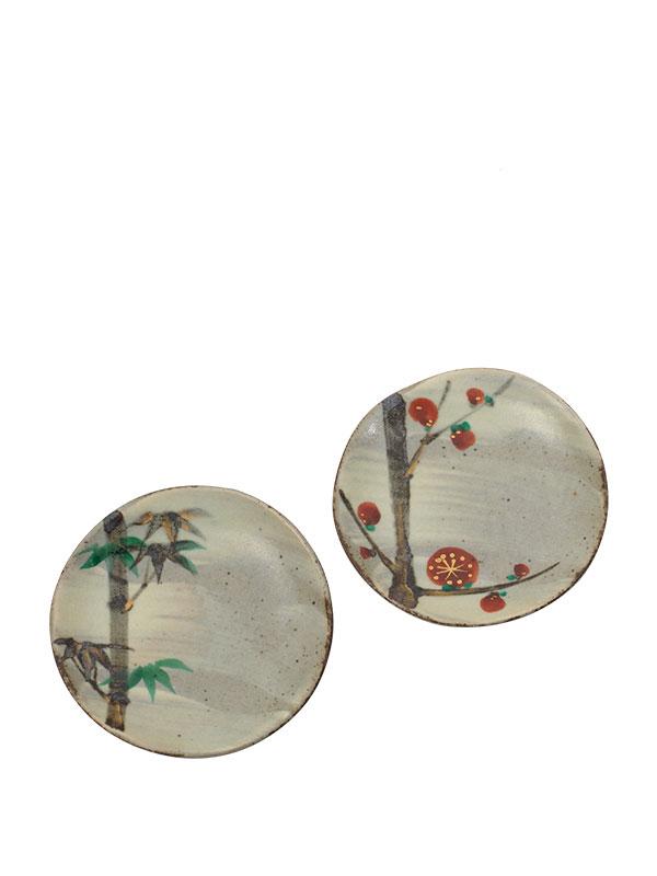 Five enamelled stoneware dishes by Kobei Kato VI