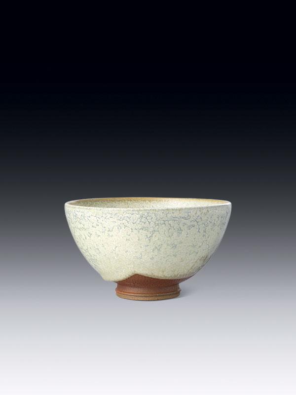 Porcelain tea bowl with white glaze, chawan